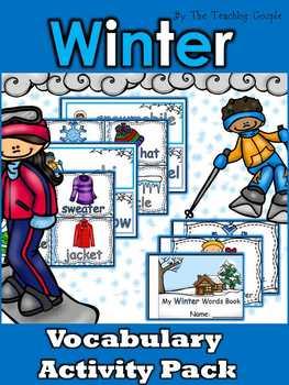 Winter Vocabulary Activity Pack