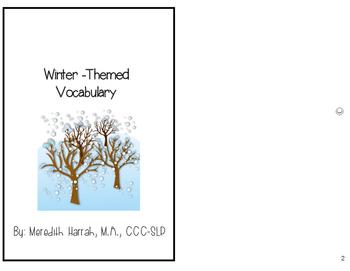 Winter Vocabulary: An Interactive Book