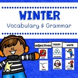 Winter Vocabulary And Grammar Activities (Nouns, Verbs and Adjectives)