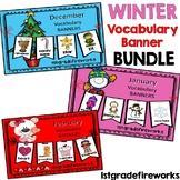 Winter Vocabulary Banner Bundle