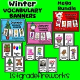 Winter Vocabulary Banner Bundle