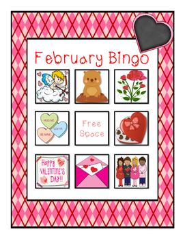 February Vocabulary Bingo