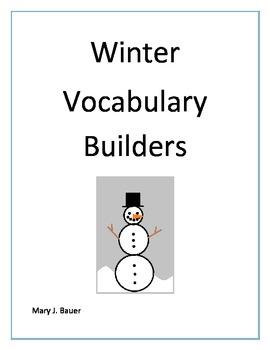 Winter Vocabulary Builders