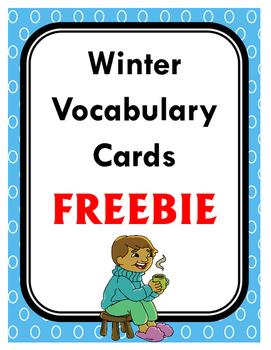 Winter Vocabulary Cards FREEBIE