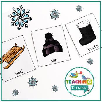 Winter Vocabulary Cards (Freebie!)