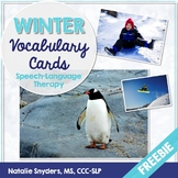 Winter Vocabulary Cards Freebie for Speech Language Therapy