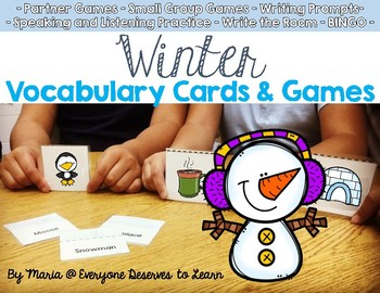 Winter Vocabulary Cards and Games