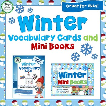 Winter Vocabulary Cards and Mini Books BUNDLE