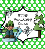Winter Vocabulary Cards for Work Stations and Writing