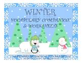 Winter Vocabulary Companion & Worksheets