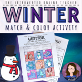 Winter Vocabulary ELA/ESL/EFL Match and Color Printable Activity