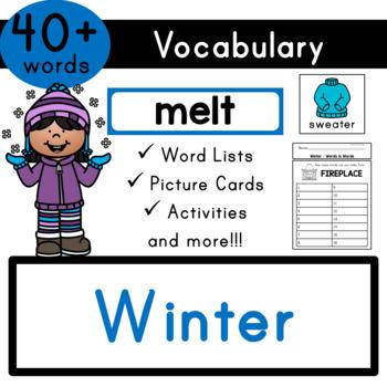 Winter Vocabulary - Flash Cards