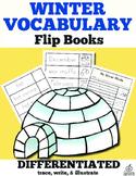 Winter Writing Center: Winter Vocabulary Flip Books