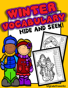 Winter Vocabulary ...Hide and Seek
