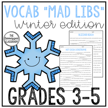 Winter Vocabulary Fill-in-the-Blank Passages