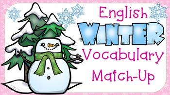 Winter Vocabulary Match-Up Literacy Centre Activity