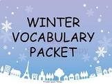 Winter Vocabulary Packet