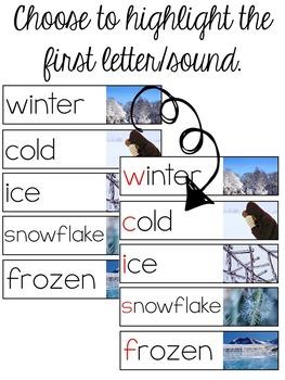 Winter Vocabulary Resources