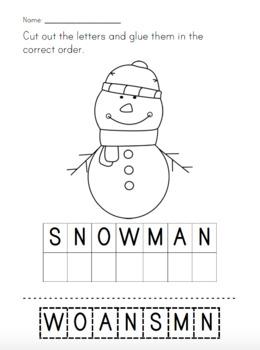 Winter Vocabulary Scrambles