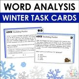 Winter Word Analysis Skills Task Cards