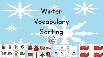 Winter Vocabulary Sort and Match