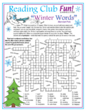 Winter Vocabulary (Synonyms) Crossword Puzzle & Word Search