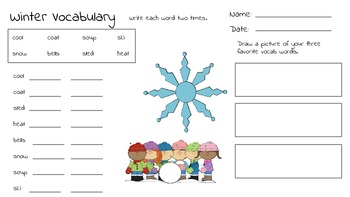 Winter Vocabulary Unit