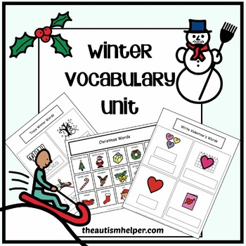 Winter Vocabulary Unit {for Special Education}