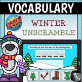 Winter Vocabulary Unscramble Boom Cards™ Digital Task Cards