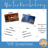"Winter Vocabulary ""WH"" and Yes/No Questions"