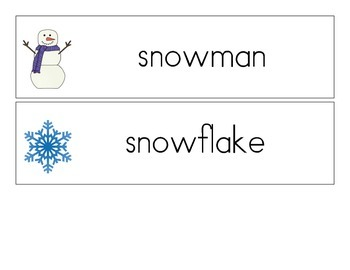 Winter Vocabulary Word Cards