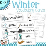 Winter Vocabulary Word Wall Cards plus Write & Wipe Version