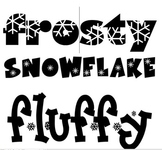 Winter Vocabulary Word Wall Words