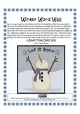 Winter Vocabulary Word Wall