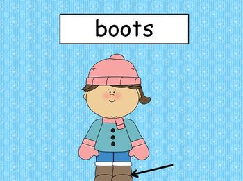 Winter Vocabulary Words PowerPoint