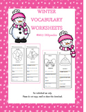 Winter Vocabulary Worksheets