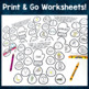 Winter Vocabulary Worksheets - Print and Go