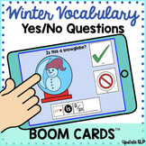 Winter Vocabulary Yes/No Questions with Sentence Strip BOO