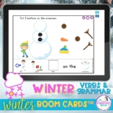 Winter Vocabulary and Grammar Boom Cards™