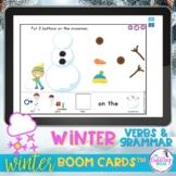 Winter Vocabulary and Grammar Boom Cards™