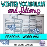 Winter Idioms and Winter Vocabulary Word Wall for ESL/ELA