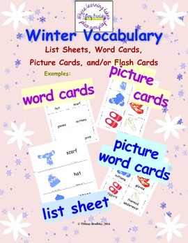 Winter Vocabulary is great for Primary, ESOL, and others!