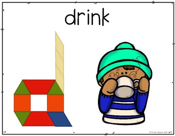 Winter Vocabulary with Pattern Blocks