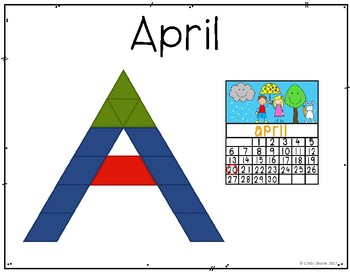 Spring Vocabulary with Pattern Blocks