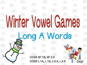 Winter Vowel Games - Long A
