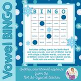Winter Vowel Syllable BINGO