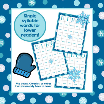 Winter Vowel Syllable BINGO