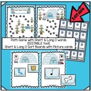Winter Movement Song & Literacy Center Vowel Work - Polar Bear Polka