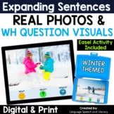 Winter WH Questions Speech Therapy Easel Activity   Photo Scenes