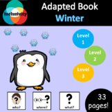 Winter WHO, WHERE, WHAT? Adapted book preposition Level 1, Level 2 and Level 3